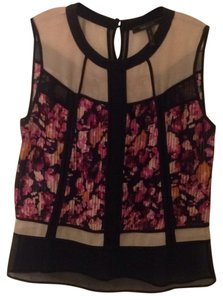 BCBGMAXAZRIA Top Black/Multi
