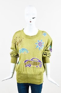 Escada Vintage Greenbluegold Sweater