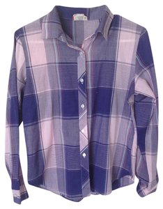 Vintage Button Down Shirt Navy, Purple, Pink, Teal