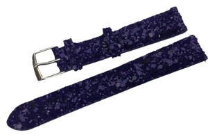 Michele Michele 16mm Sequin Leather Watch Band Strap Purple MS16CA580500