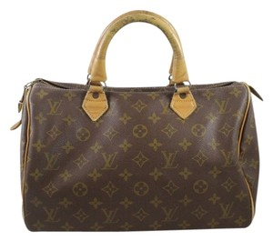 Louis Vuitton Vintage Monogram Tote Designer Penny Lane French Company Speedy 30 Satchel in Brown/Tan