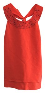 Kate Spade Embellished Bow Detail Top Coral