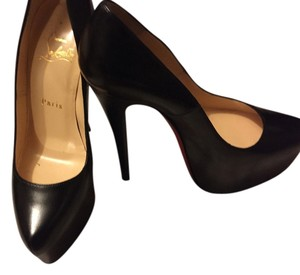Christian Louboutin Redbottoms Loubs Daffodile Black Kid Leather Pumps