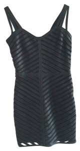 Parker short dress Black Leather Night Out on Tradesy