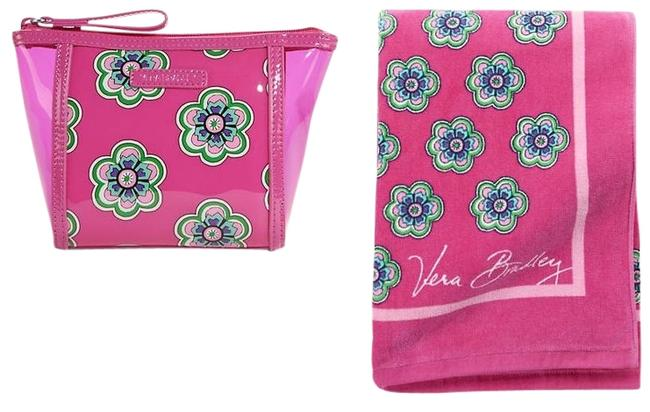 Vera Bradley Flower Swirl Pink Cotton Beach Bag Vera Bradley Flower Swirl Pink Cotton Beach Bag Image 1