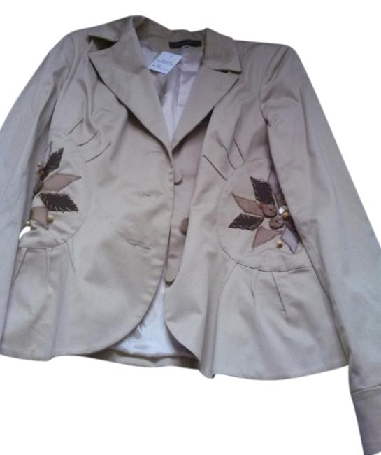 Item - Beige Made In France with Applique Jacket Size 6 (S)