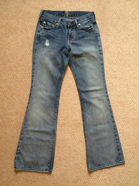 7 For All Mankind Flare Leg Jeans-Light Wash Image 1
