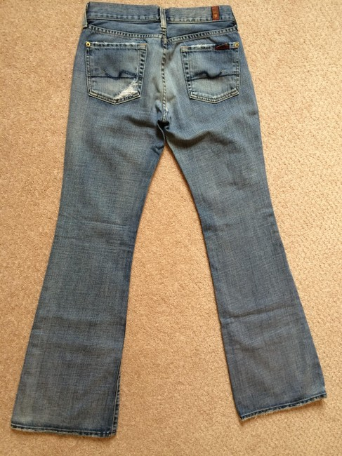 7 For All Mankind Flare Leg Jeans-Light Wash Image 2