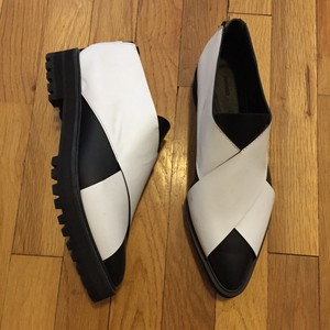 Proenza Schouler Black and White Flats