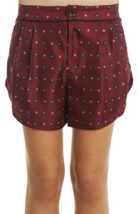 Rag & Bone Silk Dress Shorts Burgundy