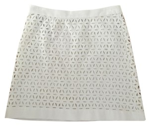 Derek Lam Eyelet Mini Skirt white