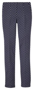 Boden Size 18 Dot Straight Pants Navy with white polka dots