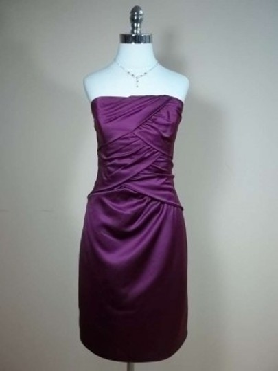 Alfred Angelo Berry Satin 7231 Formal Bridesmaid/Mob Dress Size 12 (L)