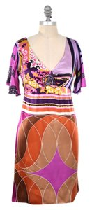 Alice & Trixie short dress Warm-toned Vibrant Empire Waist V-neck Silk Charmeuse Boho on Tradesy