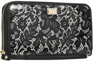 Dolce & Gabbana Wristlet in black and off white