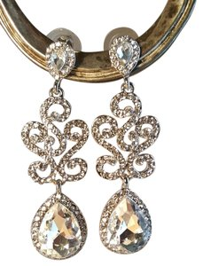 Bridal Silver Plated Austrian Crystal Earrings