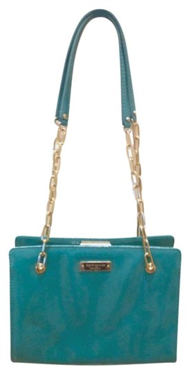 Kate Spade Patent Triple Compartment Frame Chain Shoulder Bag