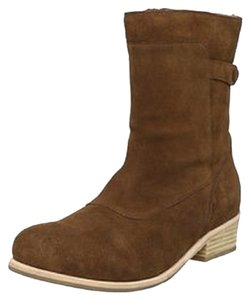 Fiel Moto Motorcycle Chocolate Suede Boots