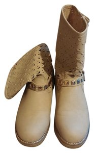 Reneeze Studded Bootie Cream Boots