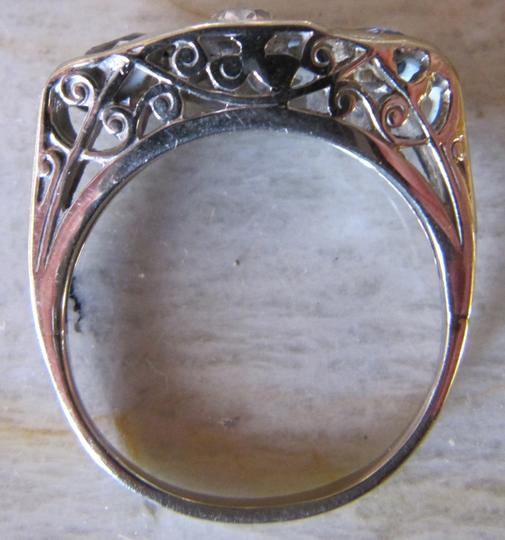 Other Antique Diamond and sapphire ring