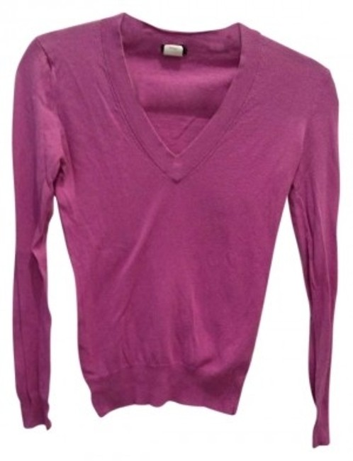 Preload https://item2.tradesy.com/images/jcrew-orchid-purple-cotton-v-neck-sweaterpullover-size-2-xs-150116-0-0.jpg?width=400&height=650