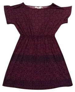 Max Studio short dress Burgundy/Black Pattern on Tradesy