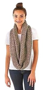 Olive Street Brown Ivory Tone Yarn Infinity Scarf Snood One 220944rm