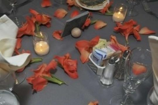 Slate Grey Tile Table Numbers Reception Decoration