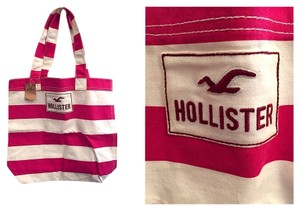 Hollister Tote in Pink And White