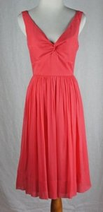 J.Crew Petite Twist Tank Silk Chiffon Tea Rose Pockets Dress