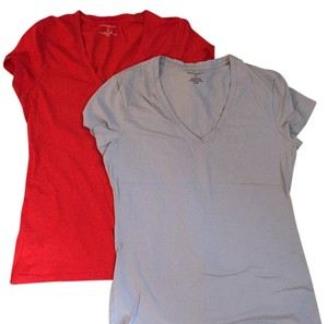 Banana Republic T Shirt Red and gray