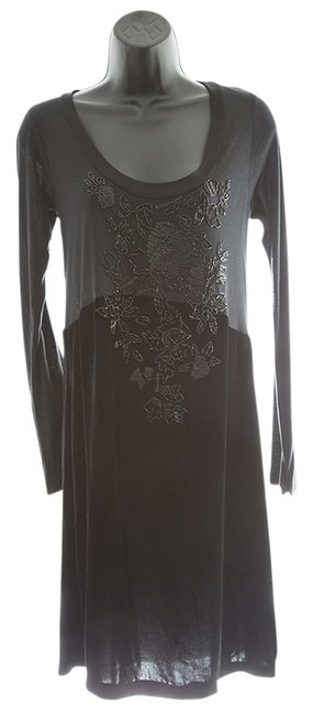 Preload https://img-static.tradesy.com/item/15012415/4-love-and-liberty-black-velvet-beaded-scoop-neck-long-sleeve-above-knee-night-out-dress-size-6-s-0-1-650-650.jpg