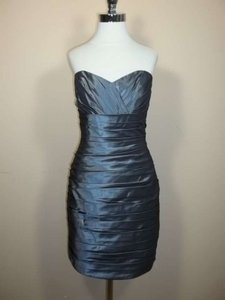 Alfred Angelo Carbon Taffeta 7235 Formal Bridesmaid/Mob Dress Size 8 (M)