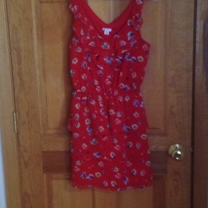 Xhilaration short dress Multicolored Red floral on Tradesy