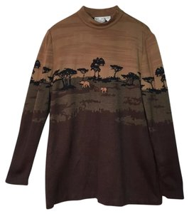 St. John Vintage Elephant Safari Africa Sweater