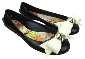 Ted Baker Jelly Bow Ballet Black Flats