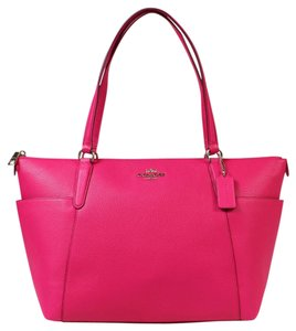 Coach Satchel in Ruby Pink