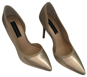Steven by Steve Madden Gold Metal Pumps