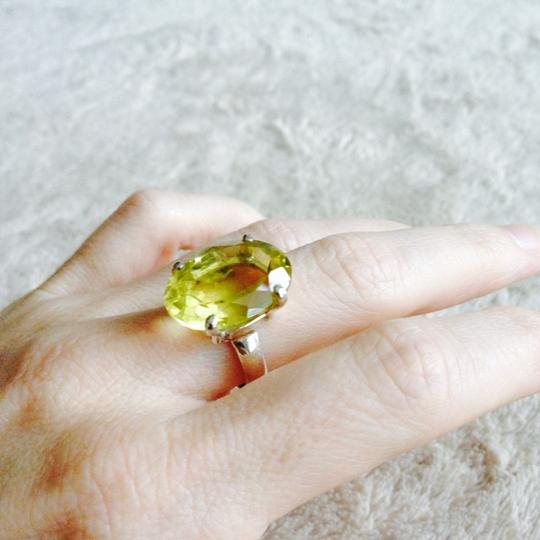 Other Sterling Silver Oval Citrine Ring Size 5