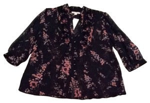 Banana Republic Top Black/Floral