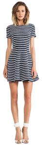 Theory short dress Navy and white Brand New on Tradesy