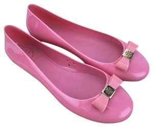 Tory Burch Jelly Ballet Bow Pink Flats