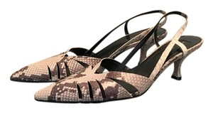 Nine West Slingback Grey Snakeskin Pumps