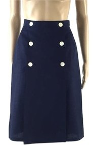 Anne Klein Vintage Designer Small Skirt Blue