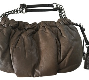 BCBGMAXAZRIA Satchel in Brown/ Taupe