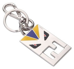 Fendi Metal Colorblock Monster Keychain