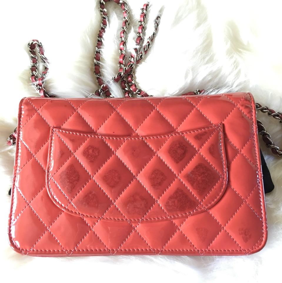 2408a7dc3a4f Chanel Wallet on Chain Woc Coral Patent Leather Cross Body Bag - Tradesy