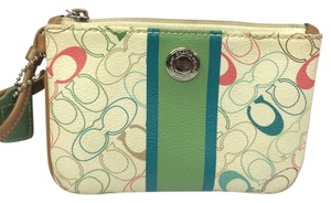 Coach Wristlet in Cream Multicolor