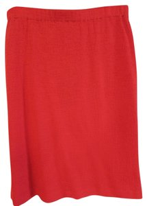 St. John Poppy Mini Skirt red