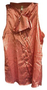 American Apparel Striped Casual Top Red